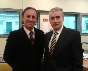 Fernando Passarelli, coordinador del Programa Valor, y el Diputado Ramón Jáuregui.
