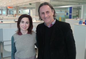 Susana Gallego Lobato Gerente de Sostenibilidad del Grupo Telefónica de España y Fernando Passarelli, coordinador del Programa Valor.