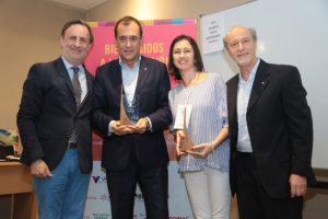 Fernando Passarelli, Diego Prado (Toyota), Lina Niño y Ernesto Tocker
